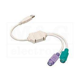 Slika za USB ADAPTER KABL USB A-2X PS2 Ž