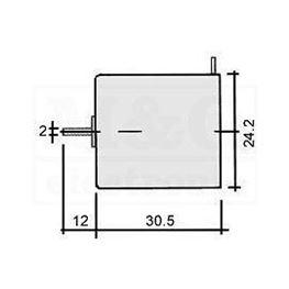 Slika za MOTOR 3V DC   8000 obr/min