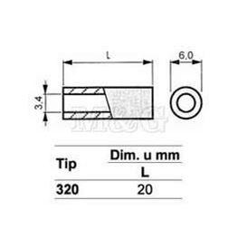 Slika za ODSTOJNIK Tip 3  M3x20 MM