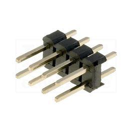 Slika za KONTAKTNA LETVICA 2,54 mm MUŠKA 2x4 pina