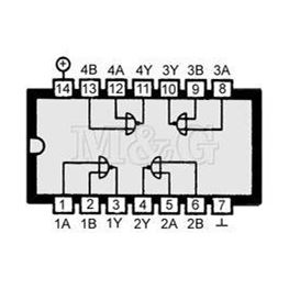 Slika za IC C-MOS 4001 Smd