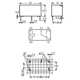 Slika za RELEJ FINDER 32.21.7.012 1xU 6A 12V DC