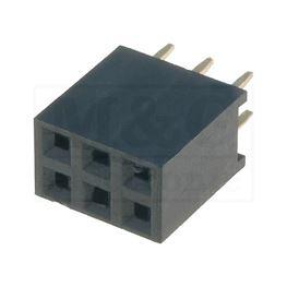 Slika za KONTAKTNA LETVICA 2,54 mm ŽENSKA 8-2x3 pina