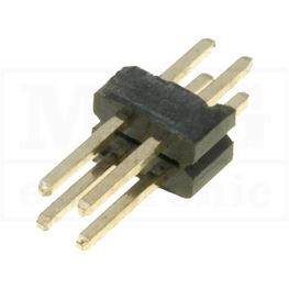 Slika za KONTAKTNA LETVICA 1,27 mm MUŠKA 2x2 pina