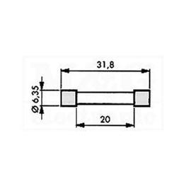Slika za OSIGURAČ 6,3x32 KERAMČKI BRZI 500V AC 1,6A
