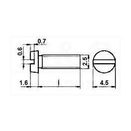 Slika za VIJAK SRPS M.B1.103 / DIN84 M2,5x30