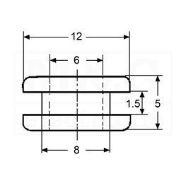 Slika za KABLOVSKI PVC UVODNIK-PRSTEN Tip 06