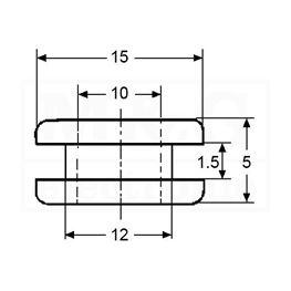 Slika za KABLOVSKI PVC UVODNIK-PRSTEN Tip 09