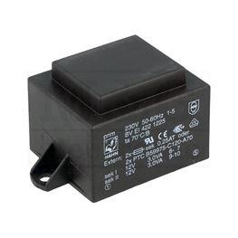 Picture of TRAFO PRINT HAHN 220V 6VA 2x12V