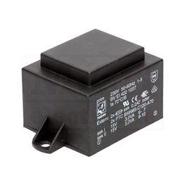 Picture of TRAFO PRINT HAHN 220V 6VA 2x15V