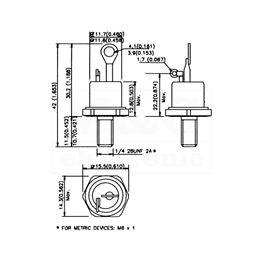 Slika za TIRISTOR T 122  25A 1000V