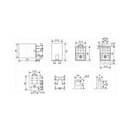 Slika za RELEJ RAYEX LB2N-24DTS 2xU 10A 24V DC