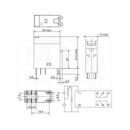 Slika za RELEJ OMRON G2R-2-SNDI 2xU 5A 24V DC