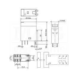Slika za RELEJ OMRON G2R-2-SN 2xU 5A 24V AC