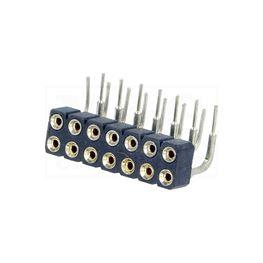 Slika za KONTAKTNA LETVICA 2,54 mm ŽENSKA 3-2x7 pina P 90°