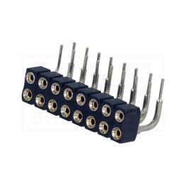 Slika za KONTAKTNA LETVICA 2,54 mm ŽENSKA 3-2x8 pina P 90°