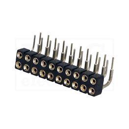 Slika za KONTAKTNA LETVICA 2,54 mm ŽENSKA 3-2x10 pina P 90°
