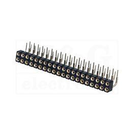 Slika za KONTAKTNA LETVICA 2,54 mm ŽENSKA 3-2x20 pina P 90°