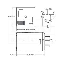 Slika za RELEJ OMRON MKS2P 2xU 10A AC 110V