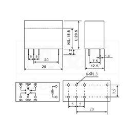 Slika za RELEJ RAYEX LMR2-3D 2xU 5A 3V DC