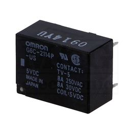 Slika za RELEJ OMRON G6C-2114P-US-5VDC   NO+NC 8A