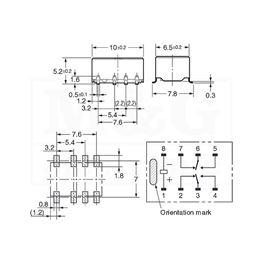 Slika za RELEJ OMRON G6K-2FY-5VDC   2xU 1A