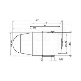 Slika za SIJALICA LED BA15S 12V AC/DC PLAVA
